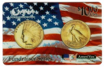 $10.00 Gold Indian (1933 Coin) ANA July, 1994 Convention (Fundraiser) Phone Card