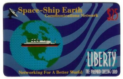 $25. Space-Ship Earth Commmunications Network: Ship & Globe SPECIMEN Phone Card