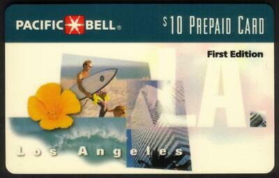 $10. Los Angeles Scenes 'First Edition' NO Scratch-Off. Exp 01-16-96 Phone Card