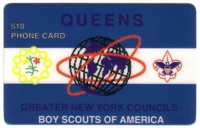 $10. Boy Scouts: Queens, N.Y. (Greater NY Councils) (Type 1) Phone Card