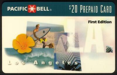 $20. Los Angeles Scenes 'First Edition' WITH Scratch-Off Exp 05-15-96 Phone Card