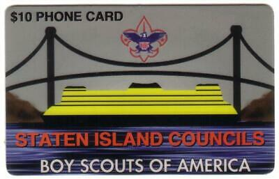 $10. Boy Scouts: Staten Island Councils (New York) (Type 1) Phone Card