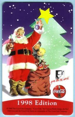 5m '1998 Edition' Santa Holding Coca-Cola Bottle (Coke) & Toys, Tree Phone Card