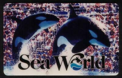 20u Sea World: Two Whales Performing In Front of Audience SPECIMEN Phone Card