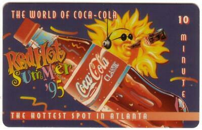 10m World of Coke (#2) 'Red Hot Summer '95'  'SAMPLE' 'Classic' Phone Card