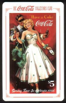 $5. Coke. The Coca-Cola Collectors Club: Springtime In Atlanta 1996 Phone Card
