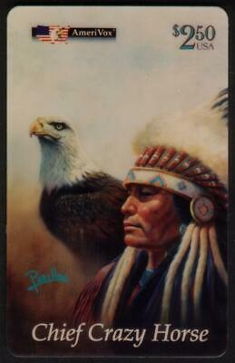 Chief Crazy Horse, Mighty Sioux, Oregon Trail: Perillo 5th Set of 3 Phone Card