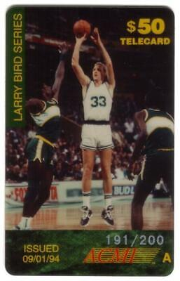$50. Larry Bird Issue 'A' (2nd Card) # SPECIMEN Phone Card