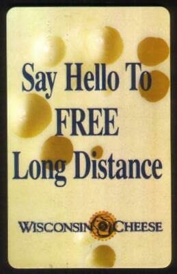 60m Wisconsin Cheese Promo Sweepstakes Card 'Say Hello..' SPECIMEN Phone Card