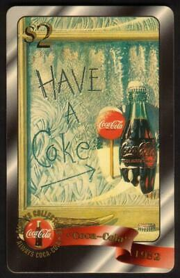 Coca-Cola '96 $2. Have A Coke - Snow (1952) Coke Card #24 of 48 Gold Phone Card
