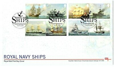 2019 ROYAL NAVY SHIPS GB FIRST DAY COVER Portsmouth Postmark FDC *NICE* 19.09.19