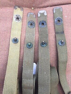 WW2 US Army M1 Carbine Khaki Canvas Rifle Sling Early with C Tips USGI NOT REPO