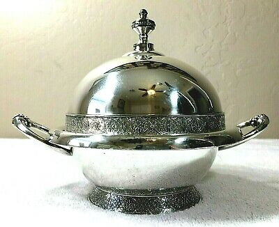 Antique Meriden Quadruple plated Silver Butter Server #2314