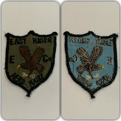 VTG Original EASY RIDER E CO AERO SCOUT US ARMY HELICOPTER PILOT PATCH Theatre