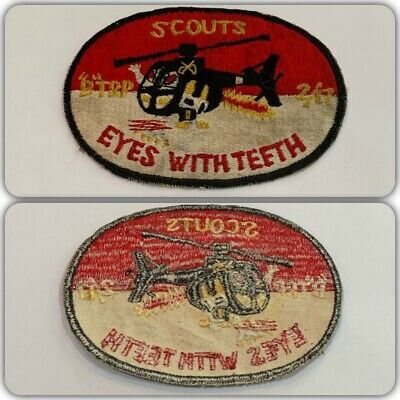 VTG Original Vietnam War B TROOP 2nd 17th CAVALRY US ARMY HELICOPTER PILOT PATCH