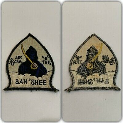 VTG Original BANSHEE B TROOP 2nd 17th CAVALRY US ARMY HELICOPTER PILOT PATCH