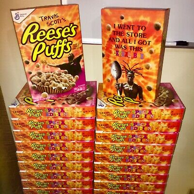 42 boxes left- Travis Scott x Reese's Puffs cereal SOLD OUT - Look Mom I Can Fly