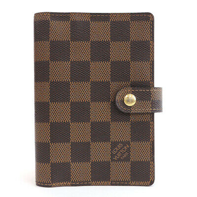LOUIS VUITTON Monogram Agenda PM R20700 Day Plannne Cover Brown Canvas
