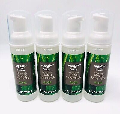 Foaming Hand Sanitizer Aloe 2 Fl Oz by Equate Beauty - 4 Pack