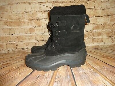 "Men's Sorel Winter Boots Black ""Antarctic"" SZ 11  LM1149-010"