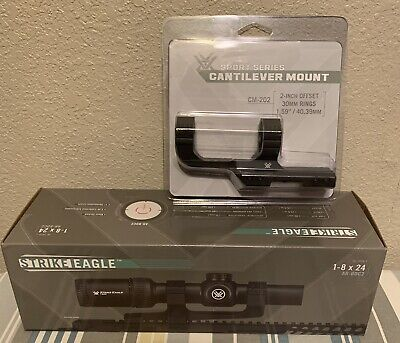 Vortex Strike Eagle 1-8 X 24 Illuminated Red Dot Reticle Scope Optic Bdc W Mount
