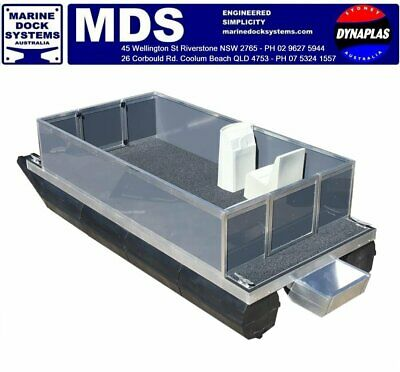 5.7 x 2.4 PONTOON BOAT FISHING WHEELCHAIR ACCESSIBLE WORK DIVE BARGE MINI HOUSE