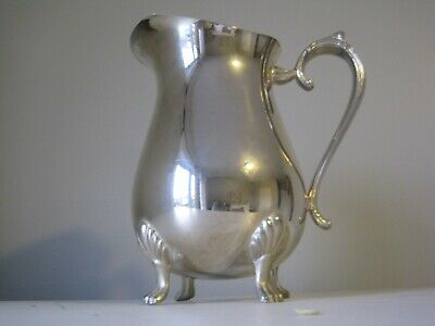 Antique/Vintage Silver Plate Water Jug Marked E.p. Brass H.c Hong Kong