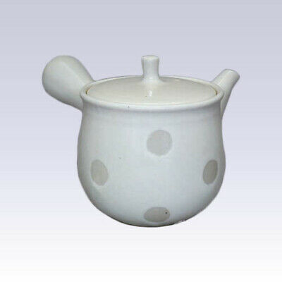 Tokoname Kyusu teapot - ISSIN - Birch Polka Dots - 360cc/ml - Refreshing steel
