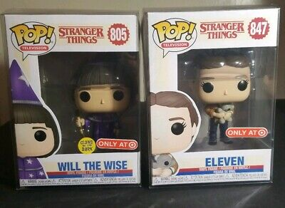 Funko POP Stranger Things WILL THE WISE GITD & ELEVEN BEAR Target Exclusive