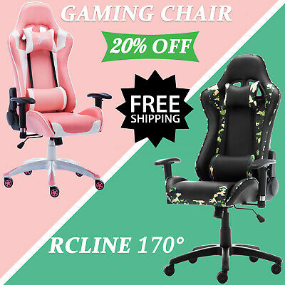 AU High Back Executive Office Chair PU Leather Computer Seat Chairs Gaming Chair