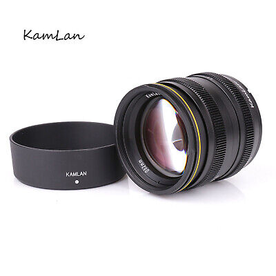 Kamlan 50mm f1.1 APS-C Manual Focus Lens for EOS-M/ FUJI FX/ SONY E/ M43 Nikon 1
