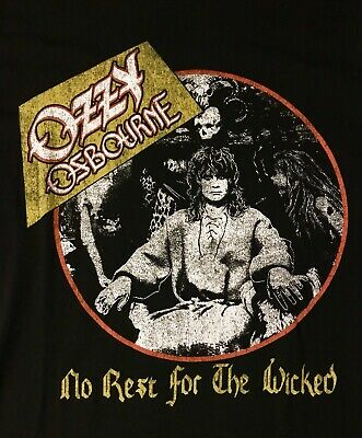 Rare Ozzy Osbourne No Rest For The Wicked '88 '89 Tour T-shirt Black Sabbath