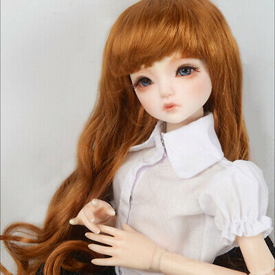 "Dollmore 1//4 BJD MSD size wig 7-8 /"" Enfant Short Cut Black"