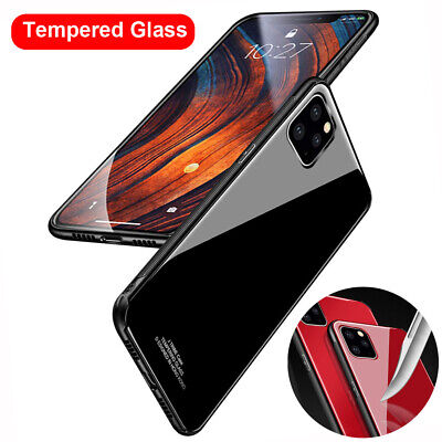 9D Tempered Glass Hybrid Hard Case Cover for iPhone 11 Pro Max X XS XR 7 8 Plus