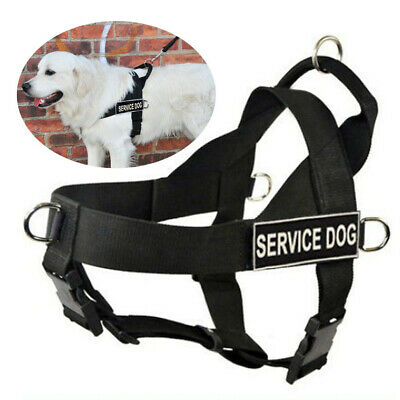 Service Dog Harness Vest w/ Handle Removable patches TRAINING THERAPY SECURITY