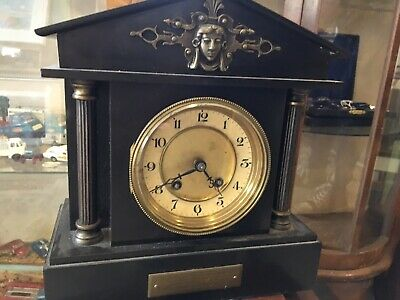 Heavy Slate Victorian Mantle Clock