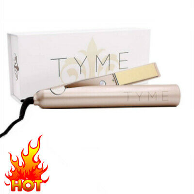 2 in 1 Iron Flat Hair Straightener Curling Gold TYME Plated