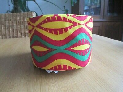Unisex African Style Kufi Hat Green Gold Red African Cotton  Rasta Ethnic