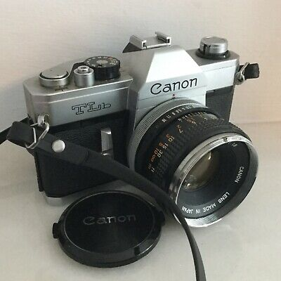 CANON TLB CAMERA WITH FD 50mm 1.1.8 LENS