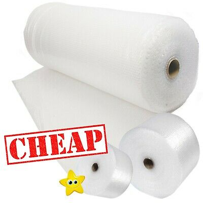 BUBBLE WRAP ROLLS SMALL LARGE (300mm, 500mm, 750mm) - FREE UK DELIVERY