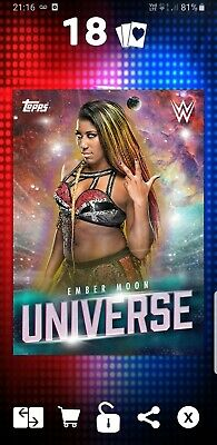 Topps WWE Slam Digital Card Ember Moon Universe Award 2019