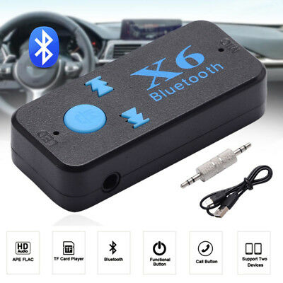 X6 Bluetooth Inalámbrico 3.5mm Aux Audio Estéreo Música Home / Coche Receptor