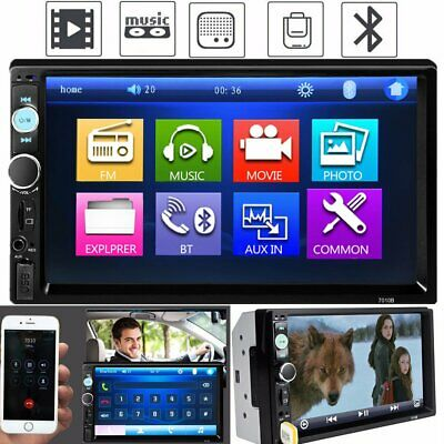 """2Din 7"""" Android Car GPS Navigation WiFi Radio Auto Stereo Multimedia Player"""