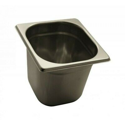 Pan Gastronorm Containers Stainless Steel Gn 1/6 Height 15 CM