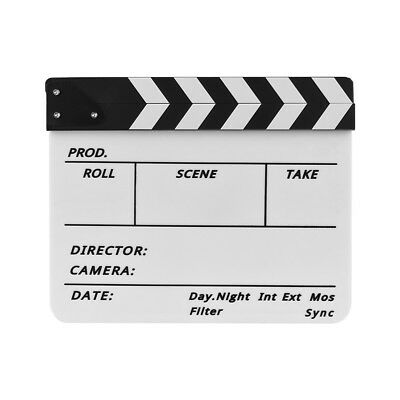 Dry Erase Colorful Director's Movie Film TV Cut Action Scene Clapperboard Marker