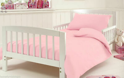 Cot Bed Size 200 Thread Count Luxury Egyptian Cotton PINK Duvet Quilt Cover Set