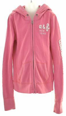 ABERCROMBIE & FITCH Girls Hoodie Sweater 13-14 Years Large Pink Cotton  DI20