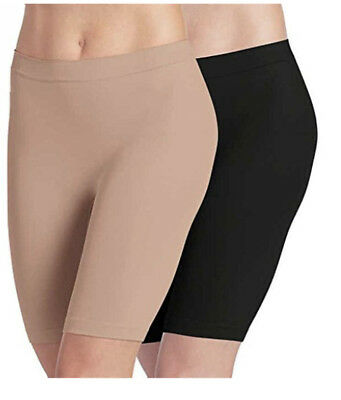 Box of 2 Jockey Skimmies Slipshorts Size SMALL  Black Beige Breathable NEW
