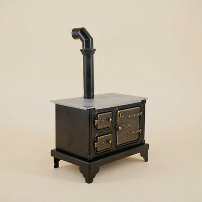 1/12 Dollhouse Miniature Furniture/Metal Kitchen Stove with Long Chimney