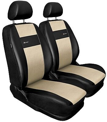 Front seat covers fit BMW 3 Series black/beige  Leatherette
